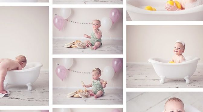 Cake smash Session and bubble bath time fun